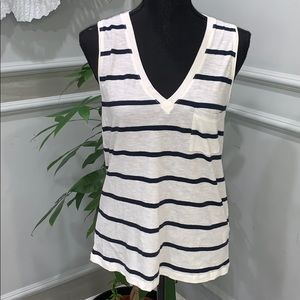 BRAND NEW MADEWELL STRIPPED SHIRT. SMALL
